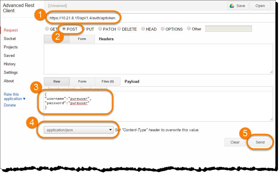 json http header example