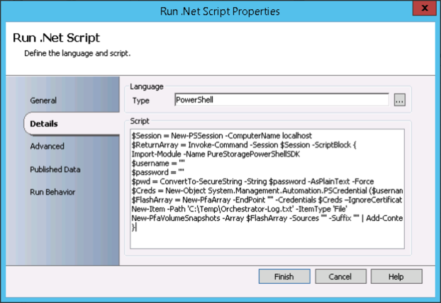 Orchestrator PowerShell