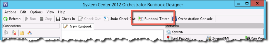 Orchestrator RunbookTester