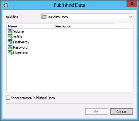 Orchestrator SelectParameters