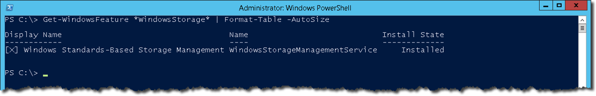 WindowsStorageManagement